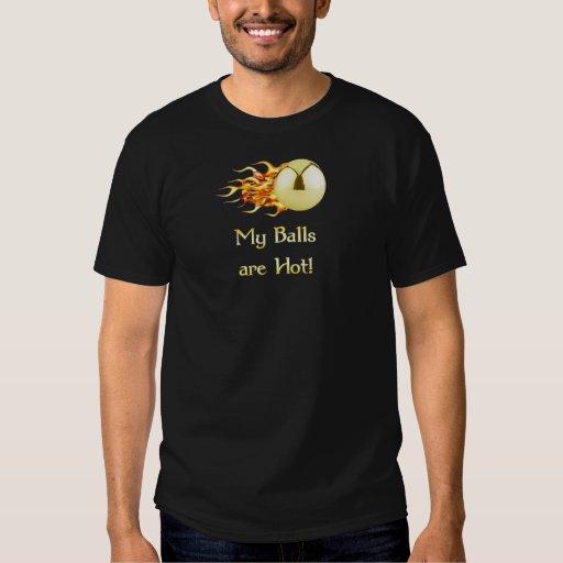 Hot Balls Flaming Pinball Tshirts
