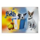 Hot Bath - Rat Terrier Card