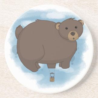 Hot Bear Balloon Beverage Coasters