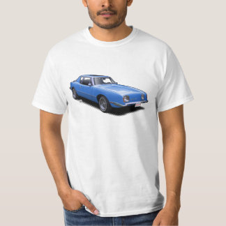 Hot Blue AvanTee Classic American Car T-Shirt