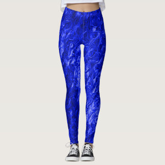 Hot Blue Rave Love Leggings
