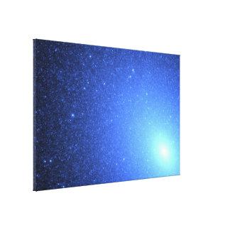 Hot Blue Stars Resemble a Blizzard of Snowflakes Canvas Print
