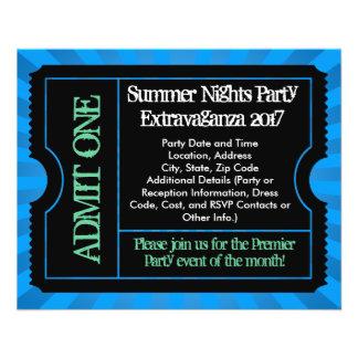 Hot Blue Ticket Flyers, Custom Printing Flyer