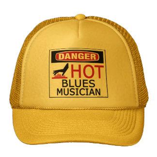 Hot Blues Musician Trucker Hat