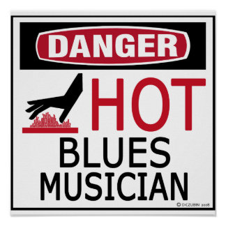 Hot Blues Musician Poster