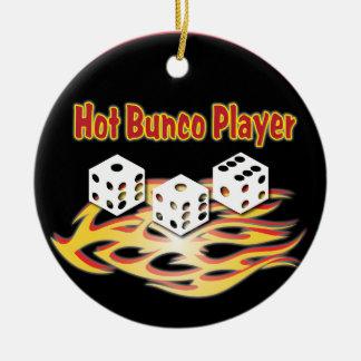 Hot Bunco Player Christmas Ornament