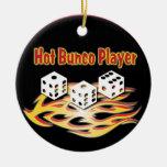 Hot Bunco Player Christmas Tree Ornaments