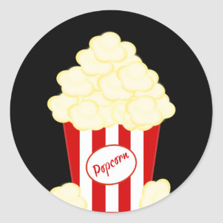 Hot Buttered Popcorn Movie Classic Round Sticker