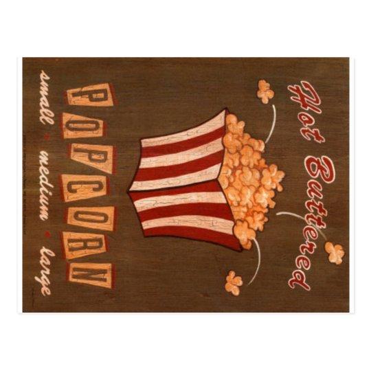 Hot Buttered Popcorn Vintage Ad Postcard 2