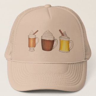 Hot Buttered Rum, Cocoa, Egg Nog Holiday Drink Hat