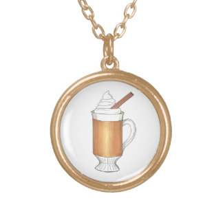 Hot Buttered Rum Holiday Drink Xmas Necklace