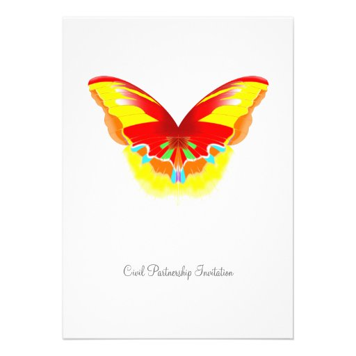 Hot Butterfly - Civil Partnership Invitation