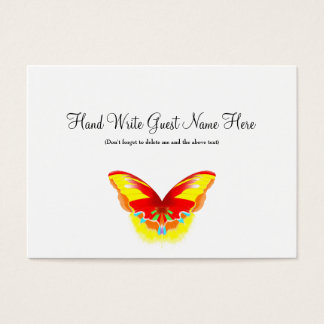 Hot Butterfly - Place Cards
