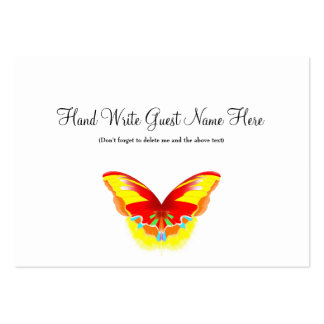 Hot Butterfly - Place Cards Pack Of Chubby Business Cards