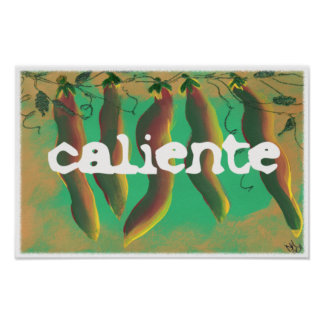 Hot Caliente Jalapeno Peppers Poster