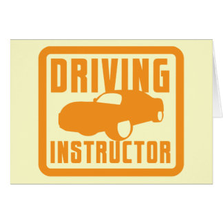 Hot car DRIVING instructor Greeting Card