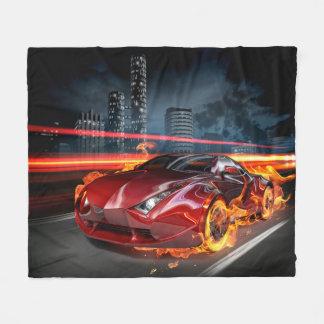 Hot Car Fantasy Fleece Blanket