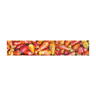 Hot Cayenne Peppers Long Canvas Wrap Gallery Wrapped Canvas