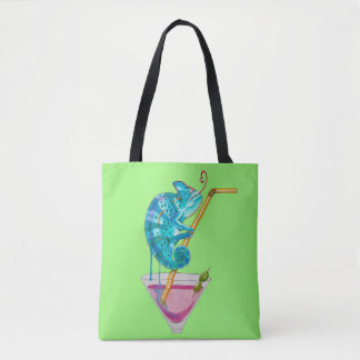 hot chameleon tote bag