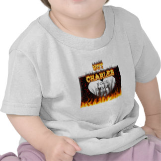 Hot Charles fire and red marble T Shirts