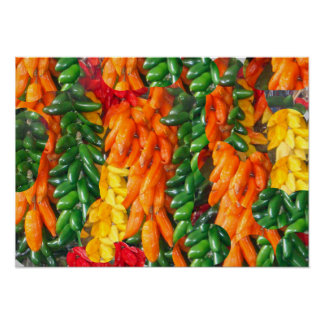 Hot Chile Peppers Poster