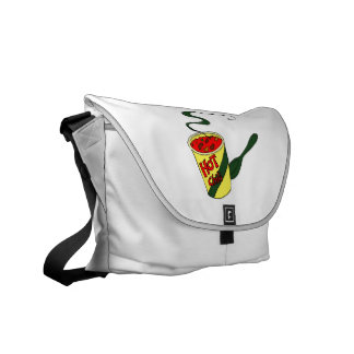HOt chili cup with spoon graphic Messenger Bags