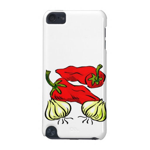 Hot Chili Pepper and Onion Graphic iPod Touch 5G Covers