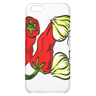 Hot Chili Pepper and Onion Graphic Case For iPhone 5C