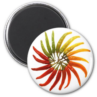 Hot Chili Peppers 6 Cm Round Magnet
