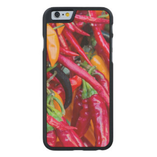 Hot Chili Peppers At Farmers Market In Madison Carved Maple iPhone 6 Case