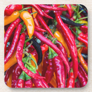 Hot Chili Peppers At Farmers Market In Madison Coaster