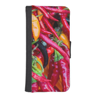 Hot Chili Peppers At Farmers Market In Madison iPhone 5 Wallets