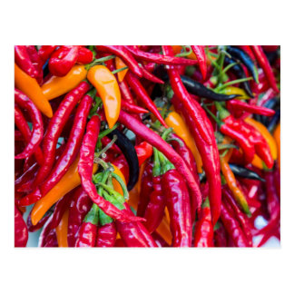 Hot Chili Peppers At Farmers Market In Madison Postcard