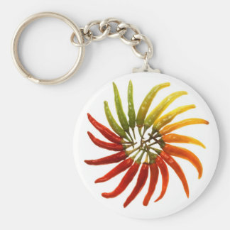 Hot Chili Peppers Basic Round Button Key Ring