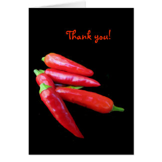Hot Chili Peppers Thank You Note Card