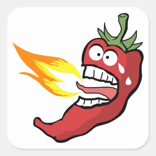Hot Chilli Pepper Square Sticker