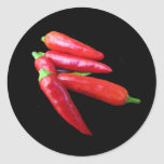 Hot Chilli Peppers Round Stickers