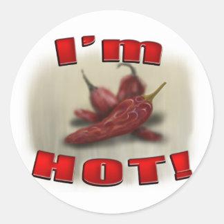 Hot Chilli Round Sticker