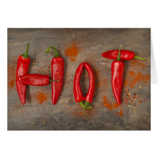 Hot chillies card