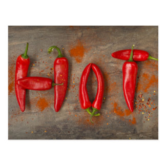 Hot chillies postcard