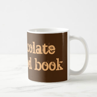 'Hot chocolate and a good book' mug. Basic White Mug