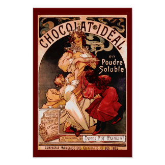 Hot Chocolate Beverage French Ad Print