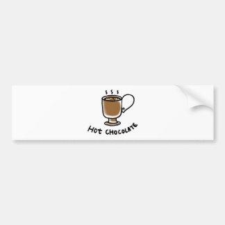hot chocolate car bumper sticker