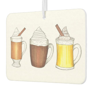 Hot Chocolate Cocoa Toddy Eggnog Winter Drinks Car Air Freshener