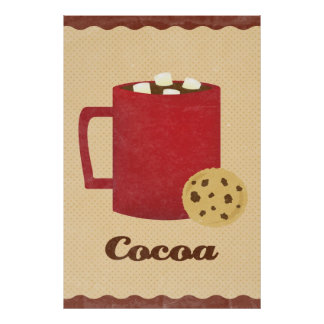 Hot chocolate illustration poster