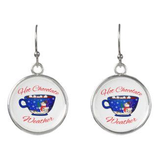 Hot Chocolate in a Snowman Mug - Holiday Earrings