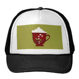 Hot Chocolate Lover Red with Green Cap