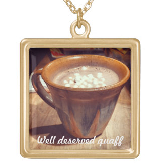 Hot chocolate necklace