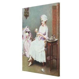 Hot Chocolate (oil on canvas) Canvas Print