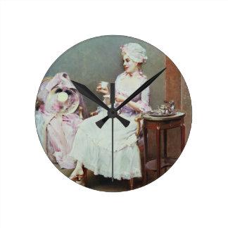 Hot Chocolate (oil on canvas) Wall Clocks